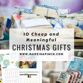 Cheap and meaningful gifts collage