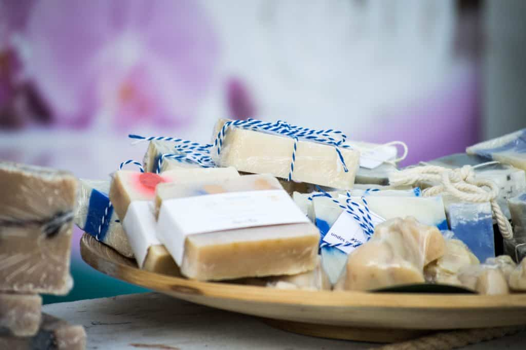 homemade hand soaps make great inexpensive Christmas gifts