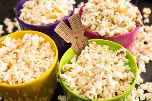 making homemade popcorn in an inexpensive air popper is fast and much healthier than microwave popcorn. Get our recipe and more helpful tips at Made in a Pinch and follow us on Pinterest!1