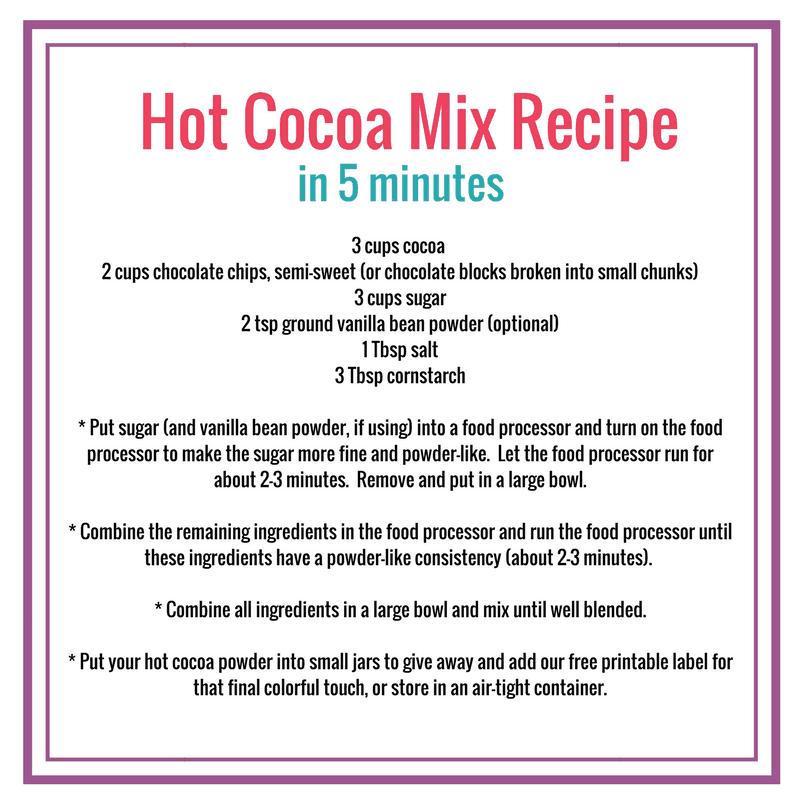 DIY Hot cocoa recipe