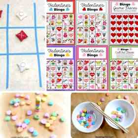 Valentine's Day activities image collage