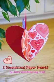 Valentine's Day activity 3D hearts