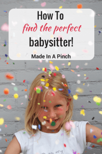 Find a babysitter you love post graphic