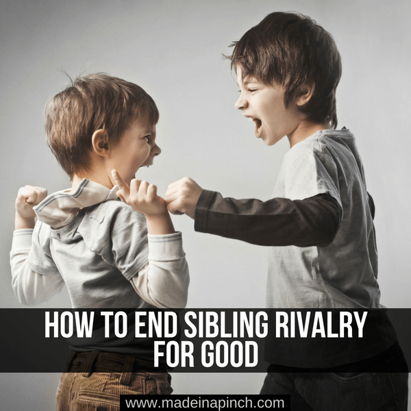 Siblings fighting causes many headaches for parents. Get our tried and true trips for ending sibling rivalry at Made in a Pinch. For more amazing tips and family recipes, follow us on Pinterest!