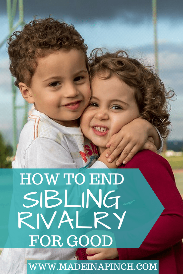 Siblings fighting is a headache for parents. Get our tried and true trips for ending sibling rivalry at Made in a Pinch. For more amazing tips and family recipes, follow us on Pinterest!