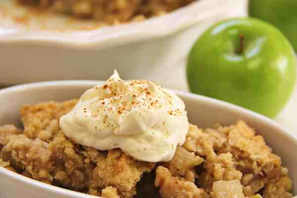 Our healthy apple crisp recipe is simple to make and disappears quickly. Get our kid-approved recipe at Made in a Pinch and follow us on Pinterest2