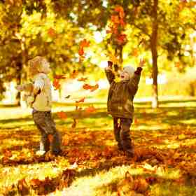 Fun Fall Family Activities begin with jumping in leaf piles! Get our list of 22 awesome family activities at Made in a Pinch. For more great tips and recipes, follow us on Pinterest!