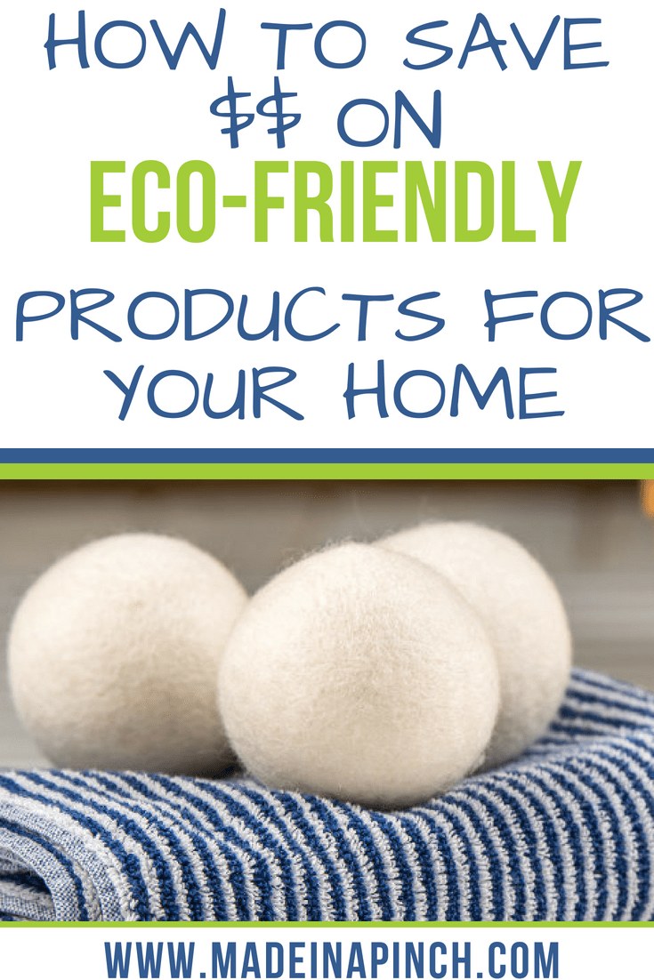 We want to help you save big on eco friendly products! Go green with our tips at Made in a Pinch. For more great tips and recipes, follow us on Pinterest!3