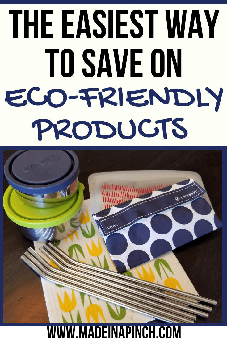 We want to help you save big on eco friendly products! Go green with our tips at Made in a Pinch. For more great tips and recipes, follow us on Pinterest!5