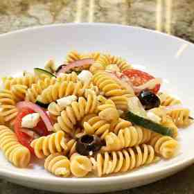 Find out about Barilla's chickpea pasta and grab our recipe for one of our favorite Greek side dishes on Made in a Pinch. Follow us on Pinterest for more healthy living tips and easy recipes!