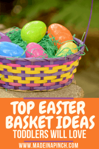 Our top 20 Easter basket ideas for toddlers are not only fun but also affordable! Follow us on Pinterest for more helpful tips and easy recipes.