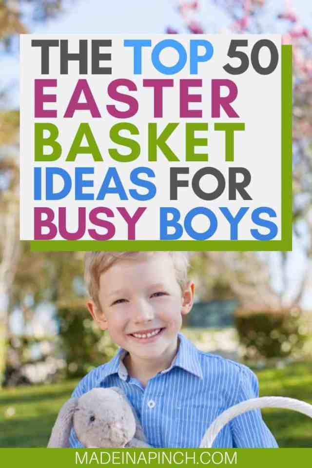 easter basket ideas for boys pin image