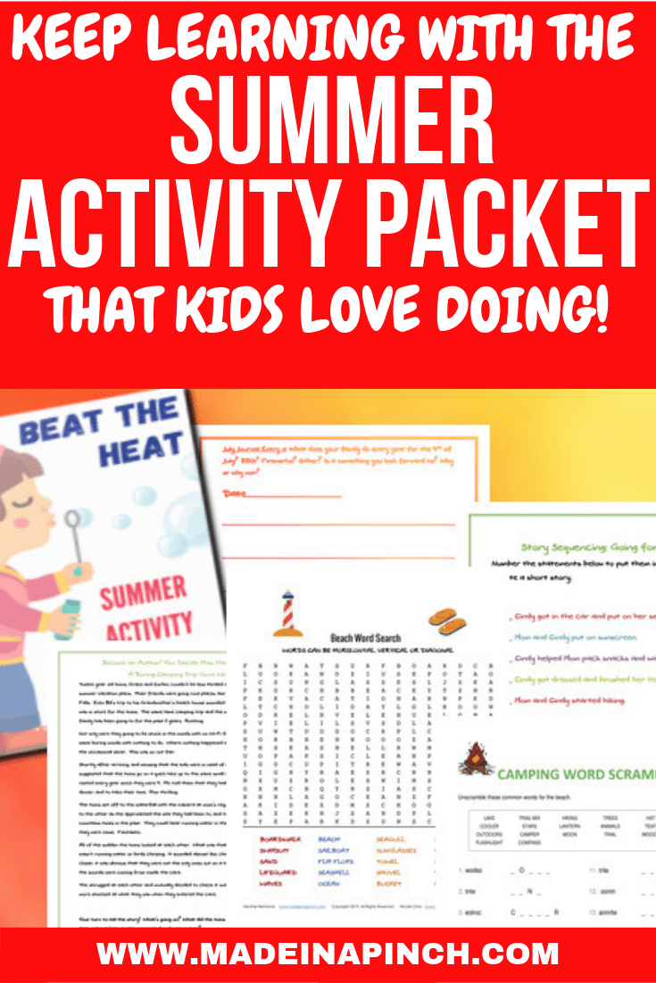 Make the Summer Activity Packet a part of your own summer program for kids to keep them busy and happy all summer!