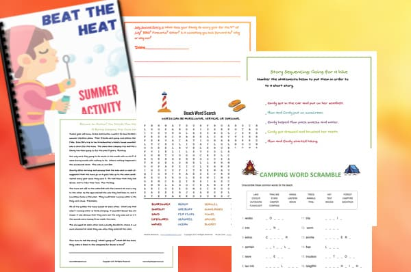 Our collection of summer worksheets, the Beat The Heat Summer Activity Package is the perfect blend of summer learning and summer fun!