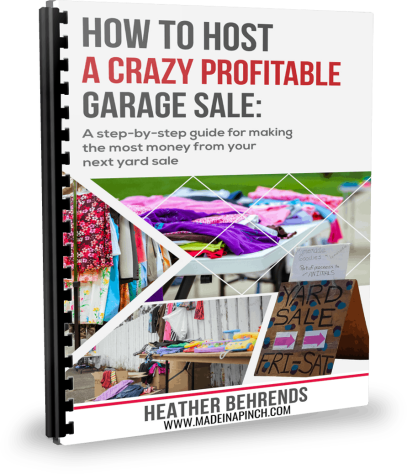 How to Host a Crazy Profitable Garage Sale is the complete guide to hosting a wildly successful garage sale!