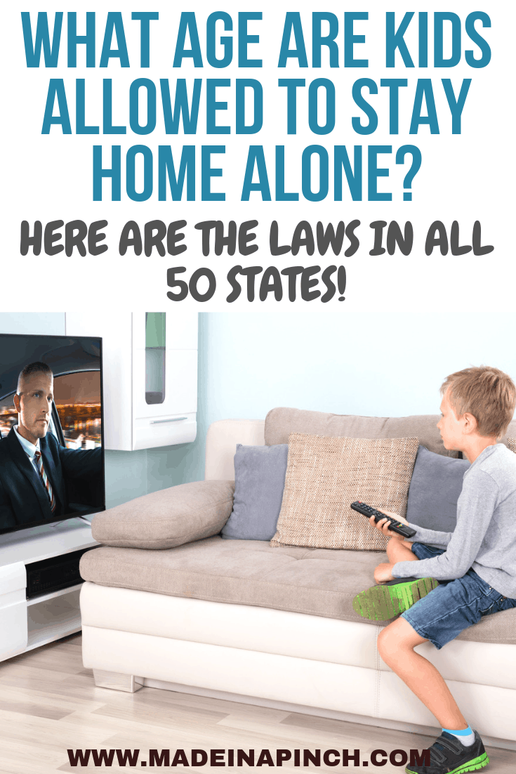 Ever wonder what the age is to allow kids to stay home alone? Here are the answers for ALL 50 states (it's not what you may think)!