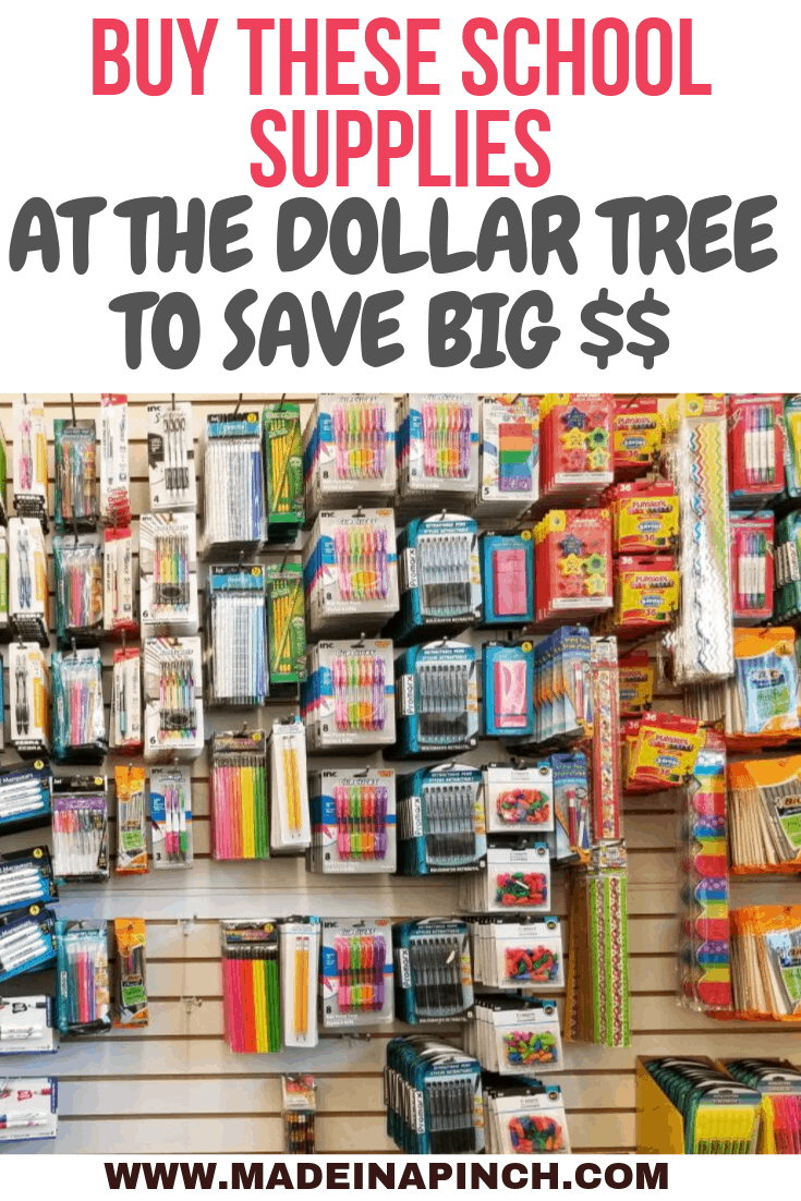 School Supplies you can buy at the Dollar Store