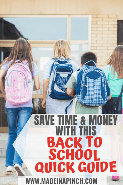 Guide to saving time and money on back to school needs