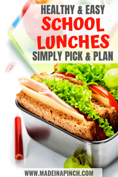 Healthy school lunches Pinterest Pin