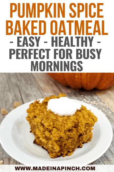 Pumpkin Spice Baked Oatmeal: A Breakfast Must-Have