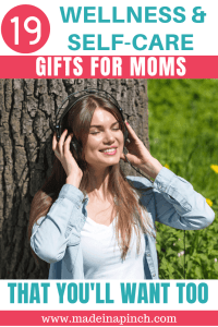 Pinterest pin for self care gifts for moms