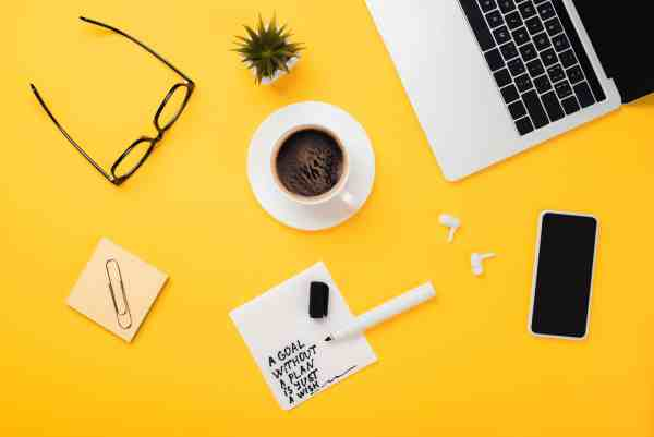 New Resolutions for children tips on yellow desk