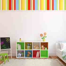 image of a clean and organized playroom as an example of how to get organized for the new year