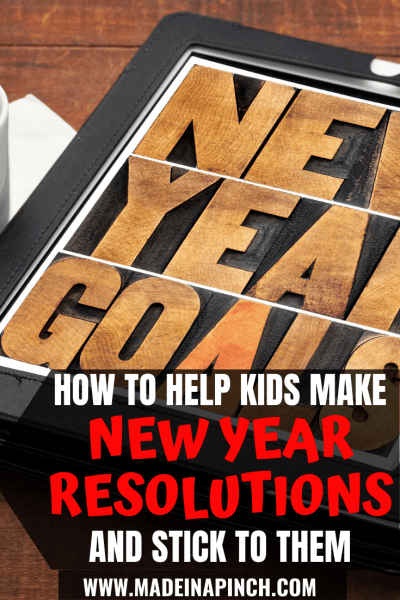 New Years Resolutions For Kids Ideas Pinterest Pin