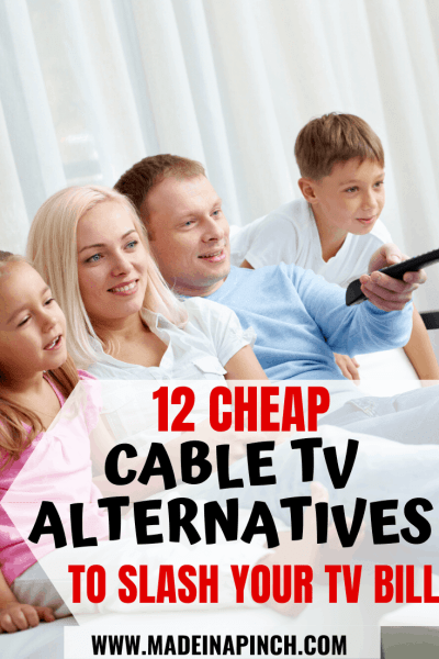 Pinterest Pin for Cheap Cable Alternatives to help slash your tv bill