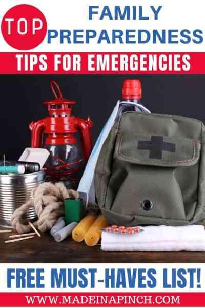 family preparedness plan pin image