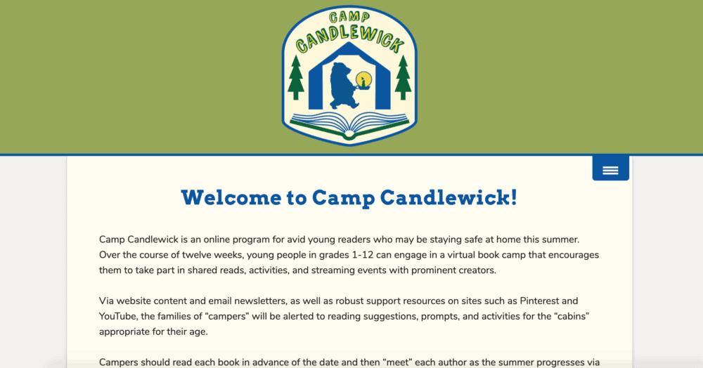 Camp Candlewick summer program homepage
