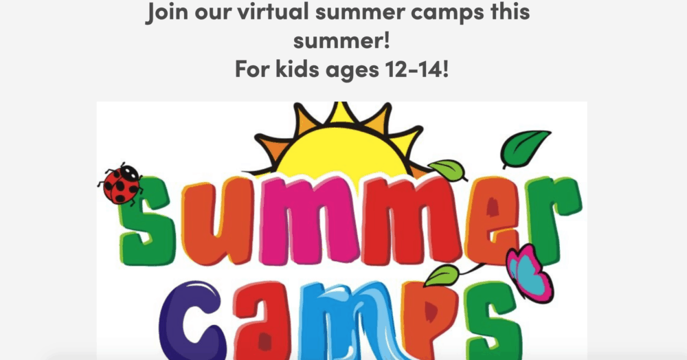 Healthy Teens summer program homepage