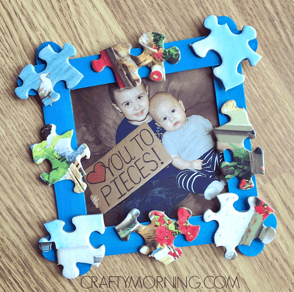 love you to pieces father's day craft for toddlers