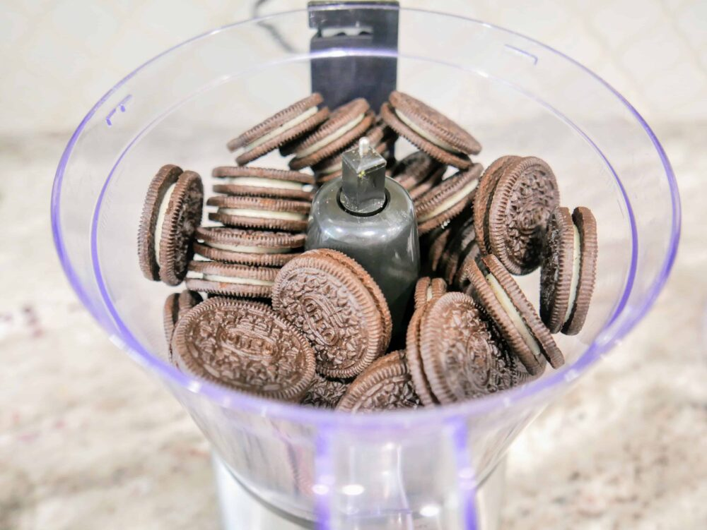 oreos in the food processor