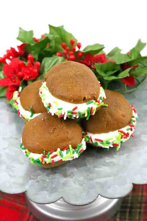 stacked holiday whoopie pies