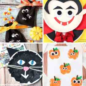 Halloween arts and crafts collage