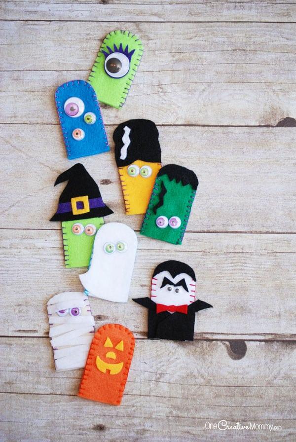 festive finger puppets