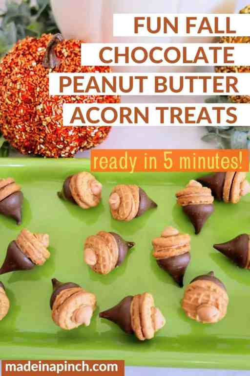 Peanut butter acorn treats