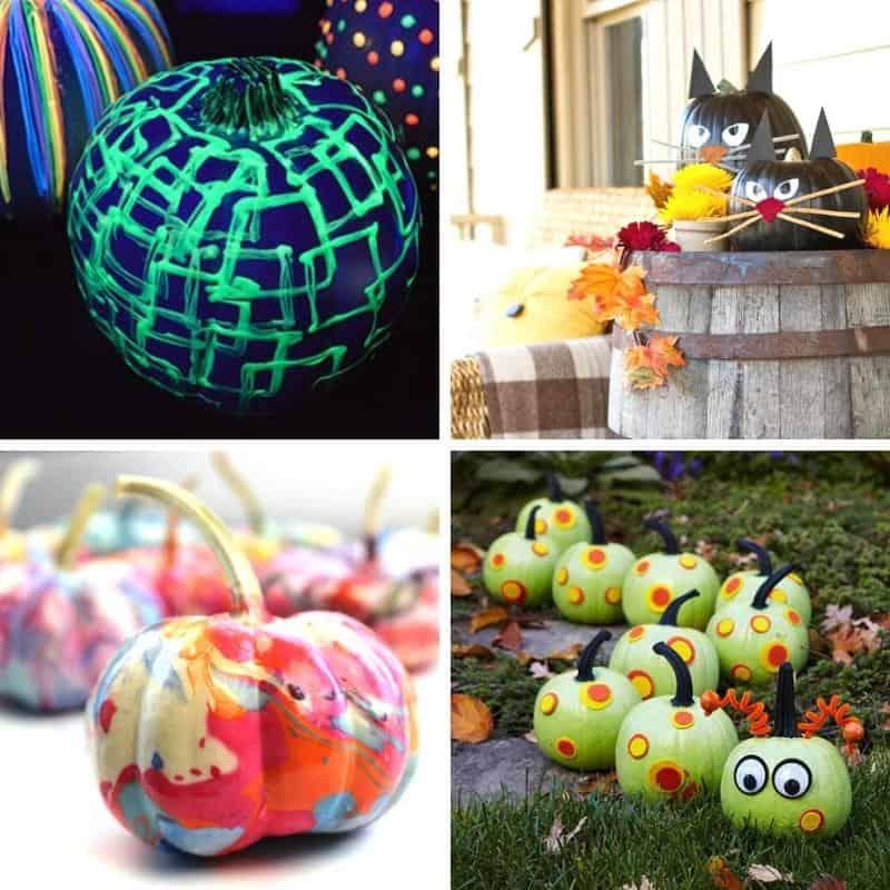 pumpkin decorating ideas feature image collage
