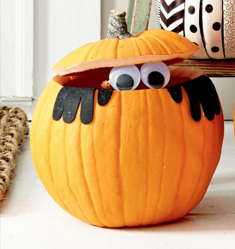 peek-a-book pumpkin