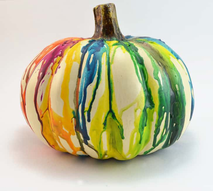 melted crayons pumpkin decorating ideas for kids