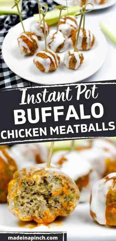 Buffalo Chicken Meatballs pin image
