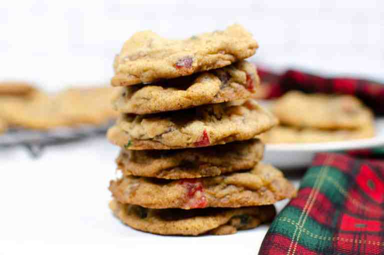 stack of fruitcake cookies