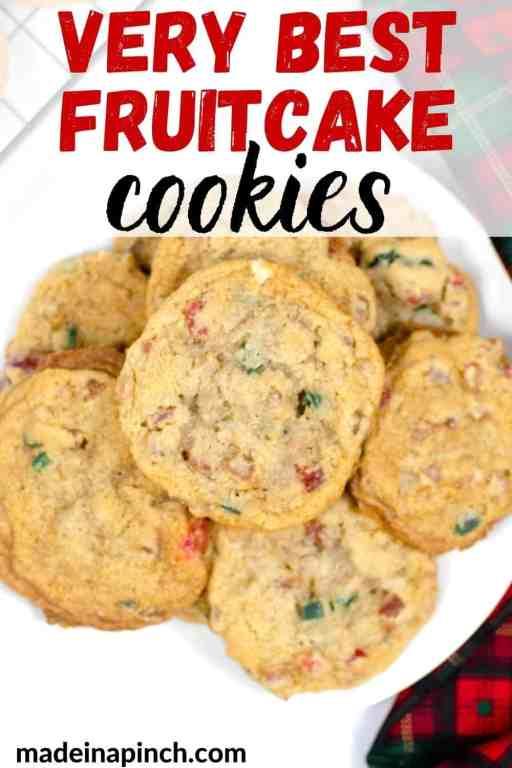 fruitcake cookies pin image