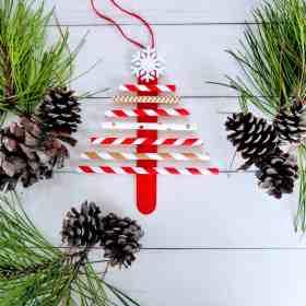paper straw christmas tree craft