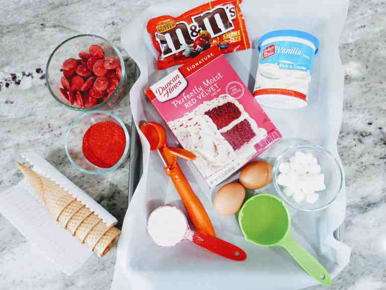 ingredients for Santa gnome cake mix cookies