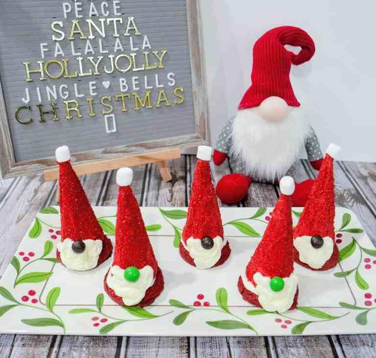 Santa gnome cake mix cookies