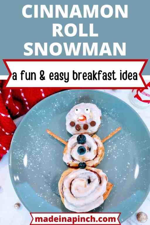 cinnamon roll snowman pin image