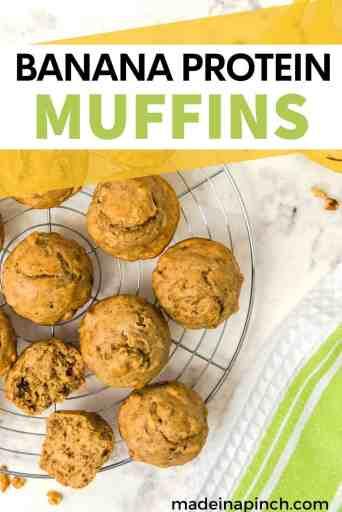 Protein Banana Muffins pin image
