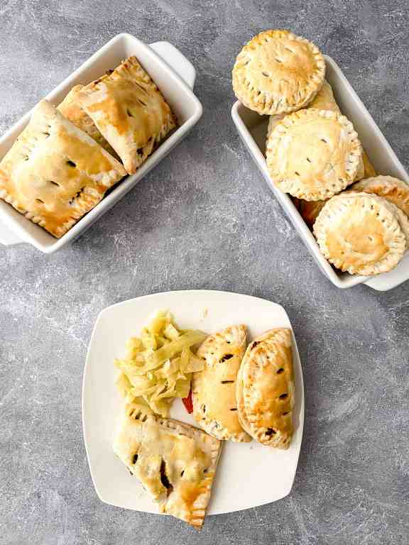 Irish meat pie recipe finished in serving dishes